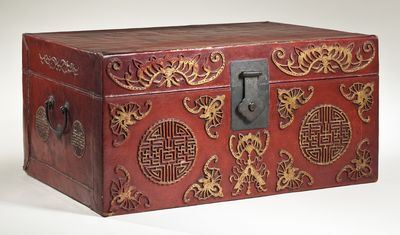 Chest with Butterflies, Chimes and Longevity Characters